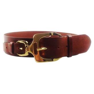 Burberry Brown Leather Belt