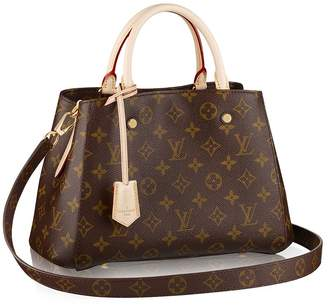 Louis Vuitton Canvas Montaigne BB Handbag Article:M41055 Made in France