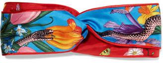 Gucci Printed Silk-twill Headband - Red