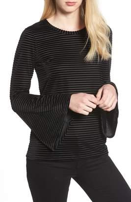 MICHAEL Michael Kors Velvet Stripe Bell Sleeve Top