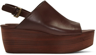 See by Chloé Brown Romy Platform Sandals $320 thestylecure.com