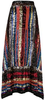 ATTICO handmade multicolor sequin skirt