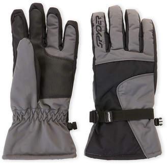 Spyder Black & Grey Performance Ski Gloves