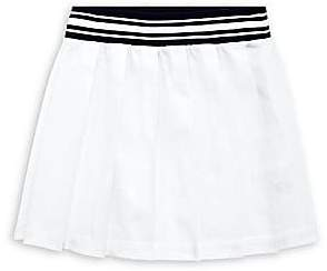 Ralph Lauren Girl's Pleated Cotton-Blend Chino Skirt