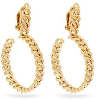 Orit Elhanati - 24ct Gold Chain Hoop Earrings - Womens - Gold