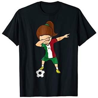 Dabbing Soccer Girl Mexico Jersey Shirt - Mexican Football