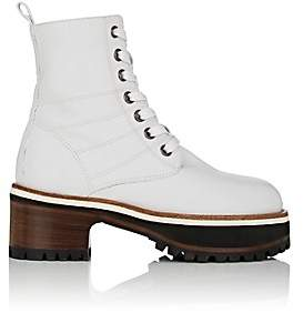 Sies Marjan Women's Jessa Leather Ankle Boots - Optic White