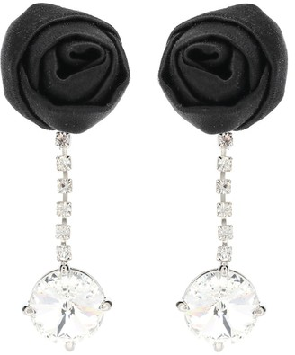 Miu Miu Silk and crystal clip-on earrings
