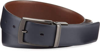 Original Penguin Leather Reversible Belt, Navy