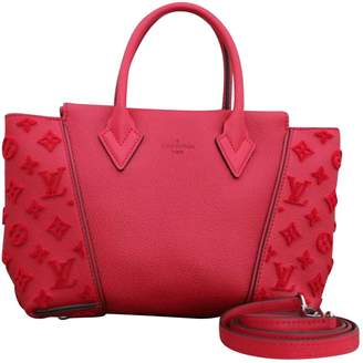 Louis Vuitton Tote W Red Leather Handbag
