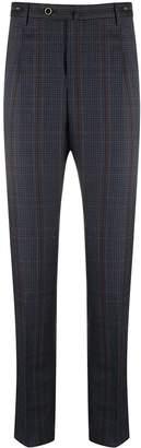 Pt01 tartan twill suit trousers
