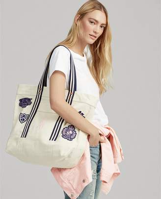 Ralph Lauren Patchwork Canvas Tote Bag