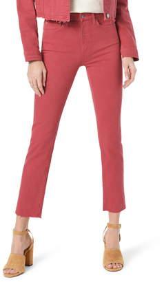 Joe's Jeans The Milla High Waist Raw Hem Straight Leg Jeans