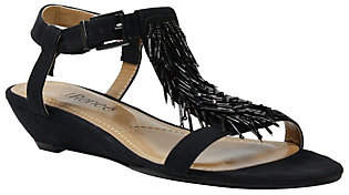 J. Renee Low Wedge T-Strap Sandals - Aleesa