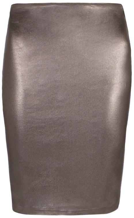 Metal Pencil Skirt