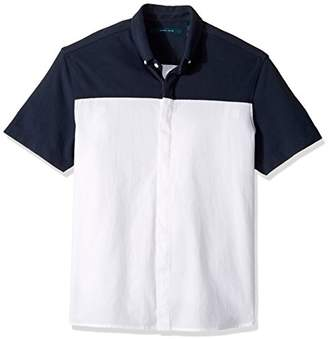 Perry Ellis Men's Short Sleeve Color Block Shirt