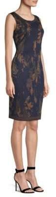 St. John Leafed Copper Shift Dress