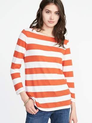 Old Navy Relaxed Mariner-Stripe Linen-Blend Tee for Women