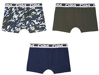 Dim Boy's Lot De 3 Boxers Swim Trunks, (Kaki Green 56), (Size: 2/3A) Pack of 3