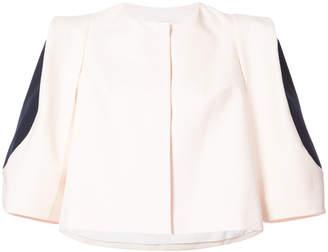 DELPOZO contrast-sleeve cropped jacket