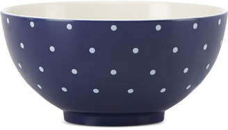 Kate Spade Larabee Dot Navy Collection Stoneware Soup/Cereal Bowl