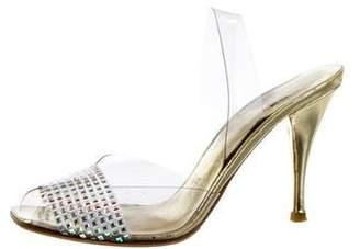 Stuart Weitzman PVC Slingback Sandals