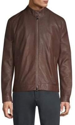 Corneliani Leather Moto Jacket