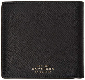 Smythson Black Panama 8 Card Wallet