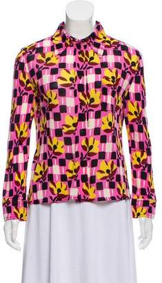 Prada Printed Long Sleeve Top
