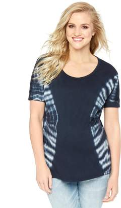 Wendy Bellissimo Motherhood Maternity Tie Dye Maternity Tee