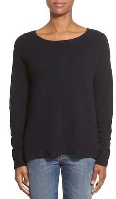Caslon Back Zip Hi-Lo Sweater (Petite)