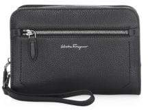 Salvatore Ferragamo Firenze Core Leather Clutch