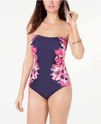 Calvin Klein Floral Strapless Tummy Control One-Piece Swimsuit Women Swimsuit
