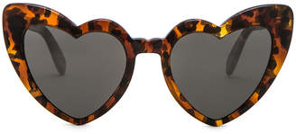 Saint Laurent Loulou Sunglasses in Leopard Havana | FWRD