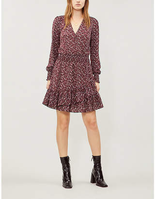 MICHAEL Michael Kors Leaf print ruffled crepe dress