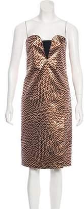 Kenzo Metallic Chevron Dress