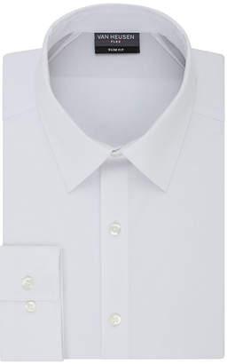 Van Heusen Lux Sateen Regular Stretch Long Sleeve Dress Shirt