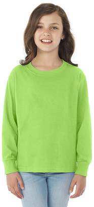 Fruit of the Loom Heavy Cotton Hd Youth Long Sleeve Tee (S)