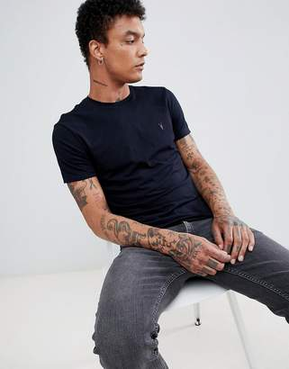 AllSaints t-shirt in navy with logo