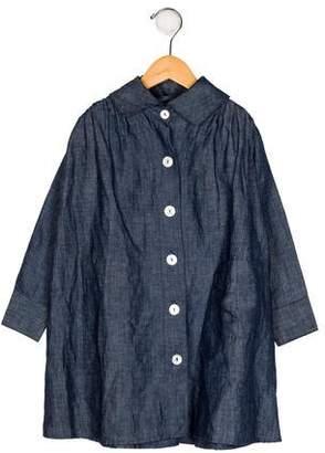 Dagmar Daley Girls' Denim Collared Dress