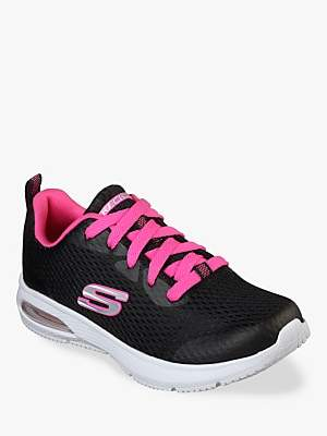 Skechers Children's Dyna-Air Jump Brights Trainers, Black/Hot Pink