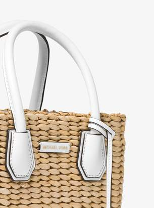 0a5dc915e06a MICHAEL Michael Kors Malibu Woven Straw Crossbody Bag