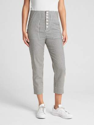 Gap High Rise Stripe Crop Chinos with Button-Fly