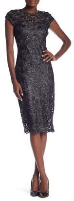 Marina Scalloped Hem Lace Dress