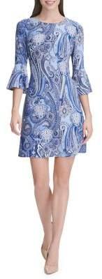 Tommy Hilfiger Jaipur Paisley Bell-Sleeve A-Line Dress