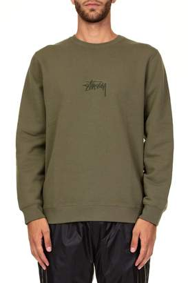 Stussy Stock App. Crew Cotton Sweatshirt