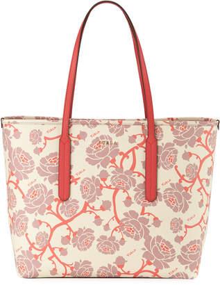 Furla Ariana Medium Floral Tote Bag, Light Beige