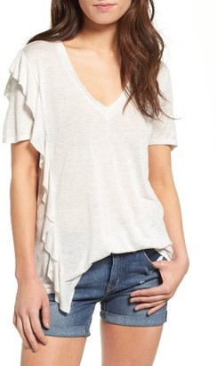 Women's Treasure & Bond Asymmetrical Ruffle Oversize Tee $39 thestylecure.com
