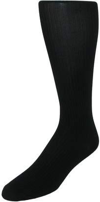 Jefferies Socks Men's Microfiber Over the Calf Dress Socks (2 Pair Pack)