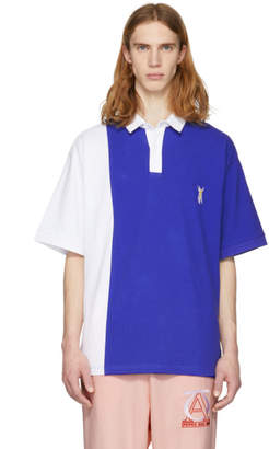 Perks And Mini Blue Colorblocked Amorphic Polo